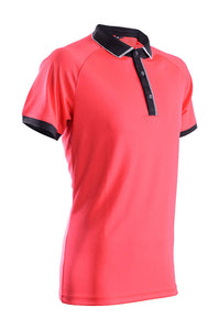 RIGHTWAY - Outréfit Reflective Design Polo Red/ Black