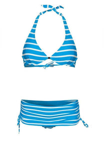 FUNFIT - Bikini Underwired Set in Baby Blue Stripes