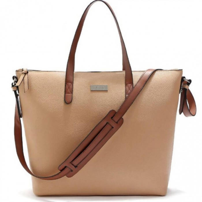 OSUKI - Elegant 12215 Leather Shoulder Handbag (KHAKI)