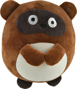 HANLOW - Animal Supersoft cushion - Brown Raccoon