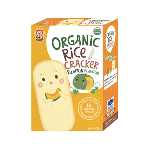 ECOPEAKS - Apple Monkey Organic Rice Cracker Pumpkin - (30g)