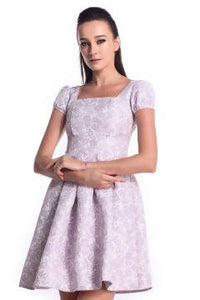 DREAMTALES WARDROBE - Pleated Fit & Flare Dress - Pastel Purple