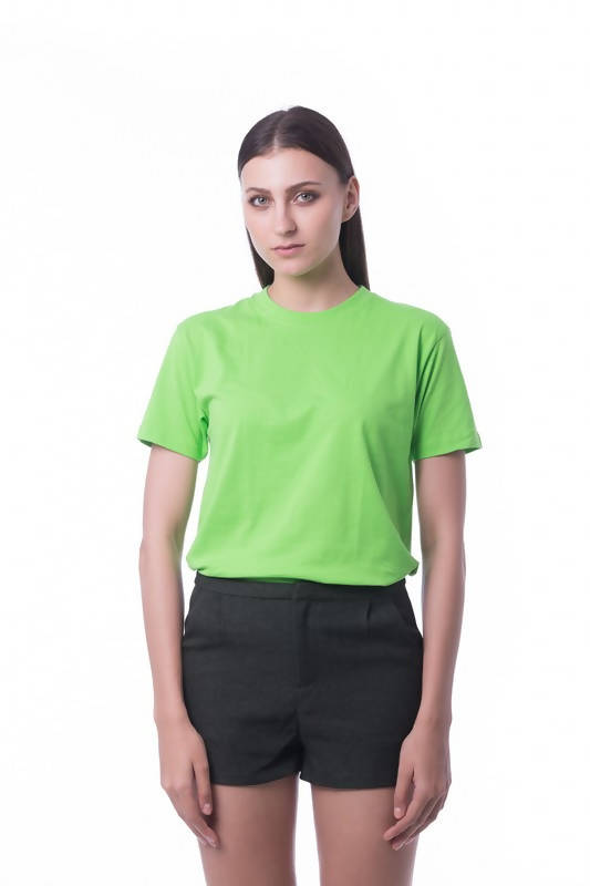 RIGHTWAY - Cotton Round Neck - Lime Green