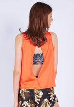 Load image into Gallery viewer, FUNFIT - Uplift Tank Top (With Open Back) in Burnt Orange