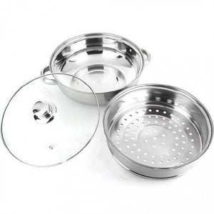 OSUKI - Japan High Quality Double Layer Stainless Steel Cooking Pot With Steamer