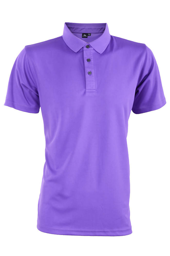 RIGHTWAY - Outréfit Reflective Design Polo Majesty Purple