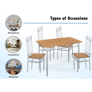 OSUKI - Home Dining Table Chair Set (5 IN 1) AH79