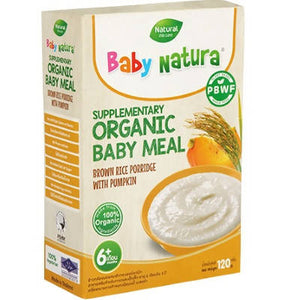 ECOPEAKS - Baby Natura Organic Brown Rice Porridge - Pumpkin (120g)
