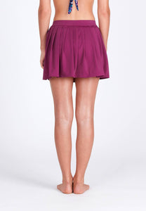 FUNFIT - Pleated Swim Skorts in Mulberry