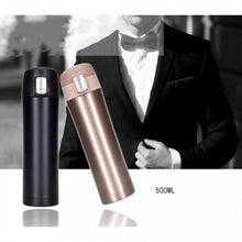 Load image into Gallery viewer, OSUKI - Japan High Quality 500ML Stainless Steel Water Bottle (BLACK PURPLISH)