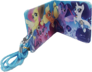 HANLOW - My Little Pony Slim Wallet with Lanyard - Blue