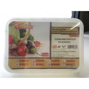 OSUKI - Goood Food Container Plastic With Lid Rectangular 10 Set-750ML