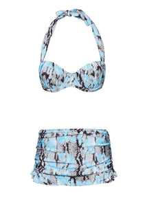 FUNFIT - Underwire Bikini, Brief and Skirt In Xylonia Print