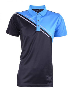 RIGHTWAY - Outréfit Reflective Design Polo Royal Blue