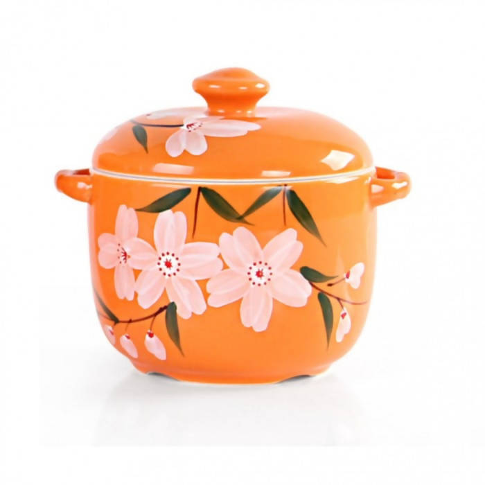 OSUKI - Heat Resistant Ceramic Stew Pot (ORANGE)