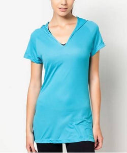 FUNFIT - Active Core Studio Shirt in Aqua Blue