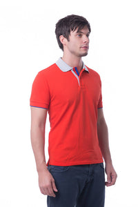 RIGHTWAY - Signature Polo Unisex - Scarlet Red/ Grey/ Royal Blue