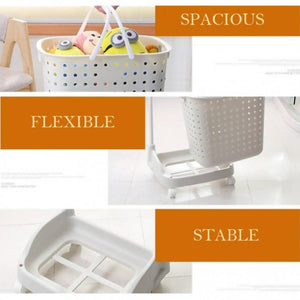 OSUKI - Flexible Laundry Pulley Basket (WHITE)