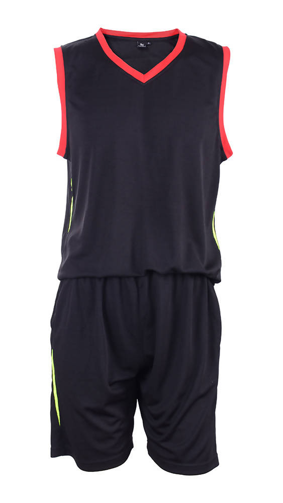 RIGHTWAY - Basketball Jersey - Black/ Red