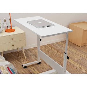 OSUKI - Mobile Height-Adjustable Table 60 X 40CM With Wheels Laptop Desk (WHITE)