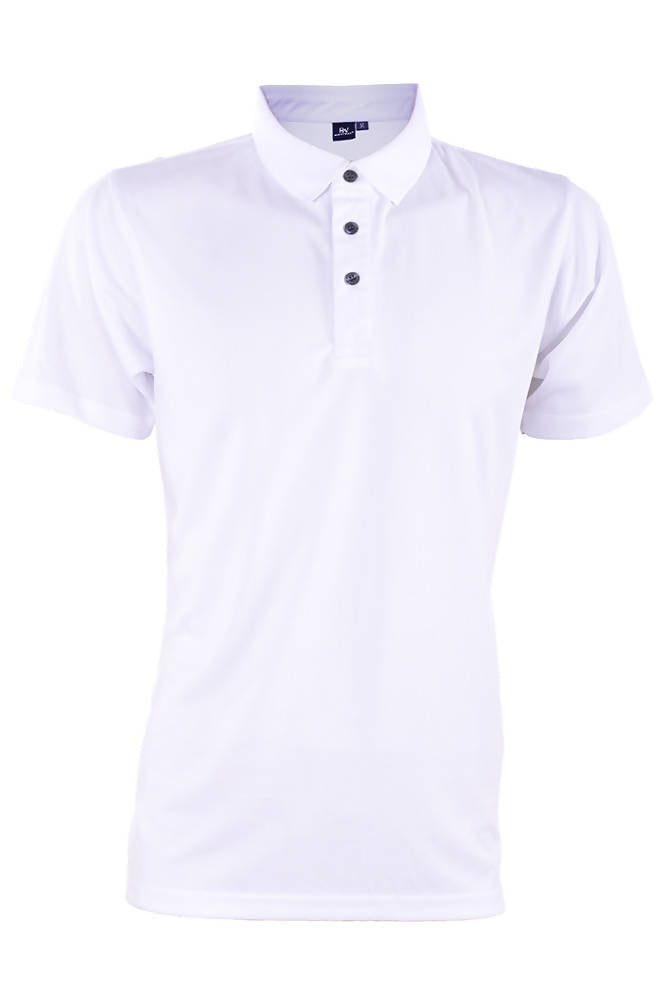 RIGHTWAY - Outréfit Reflective Design Polo Snowy White