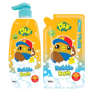 DIDI & FRIENDS - HTT B.Wash 750ML W/Refill 600ML - Orange