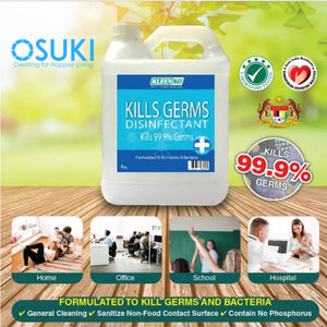 OSUKI - Kleenso Kill Germs 99.9% Disinfectant Surface Wipes 4KG