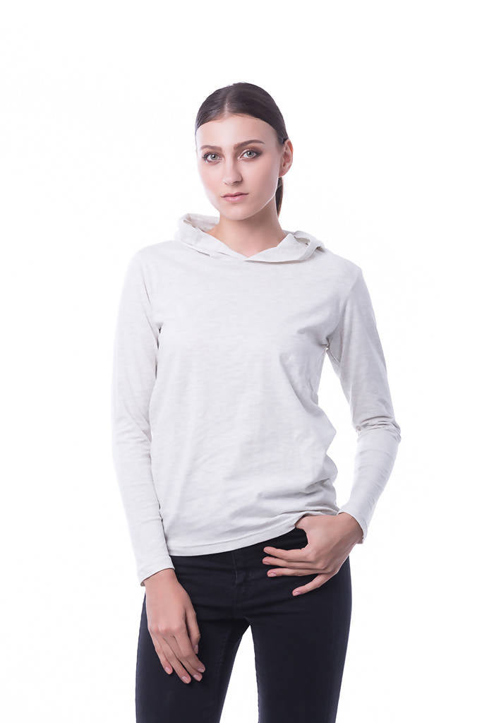 RIGHTWAY - Cotton Hoodie Top