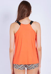 FUNFIT - Barre with us Tank Top in Burnt Orange