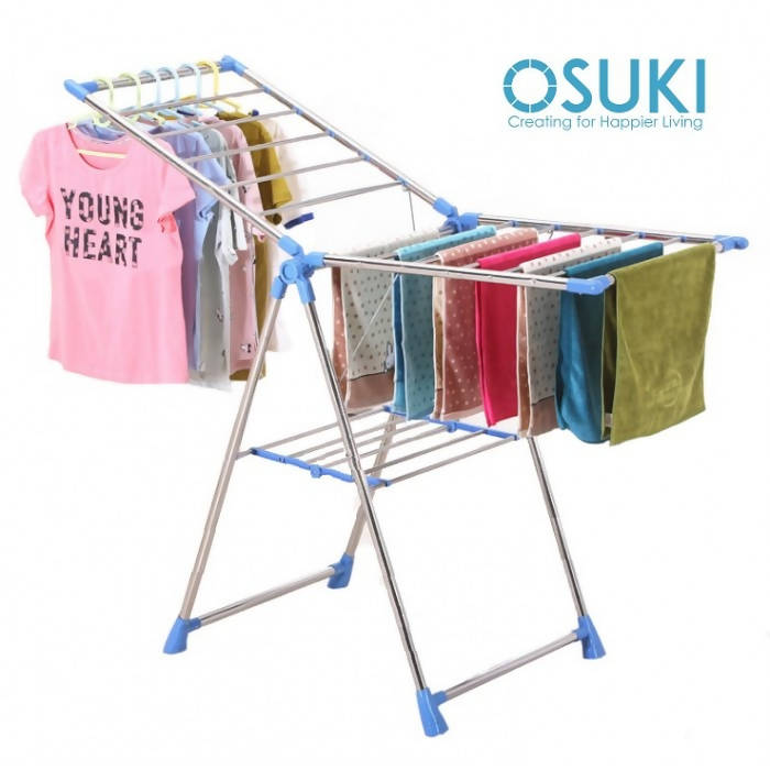 OSUKI - Solid Steel Foldable Clothes Drying Rack