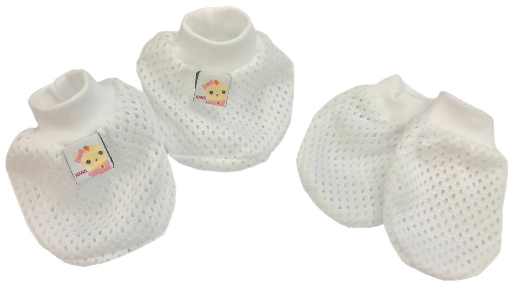 DIDI & FRIENDS - Mittens & Bootees Set - Assorted Color (EYELET)