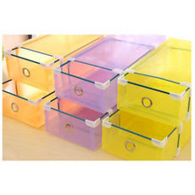 Load image into Gallery viewer, OSUKI - Transparent Storage Box Drawer Type Shoe Rack (8 BOX-PURPLE)