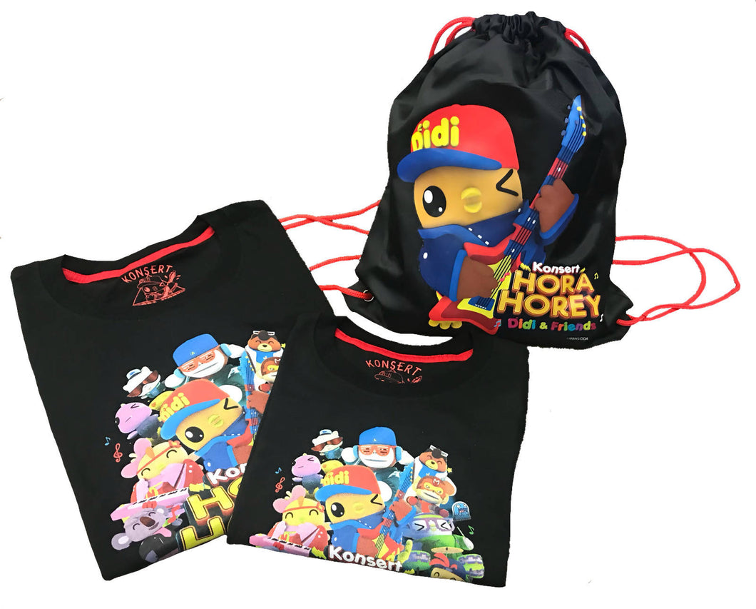 DIDI & FRIENDS 2 IN 1 PROMO CONCERT TEE WITH BAG