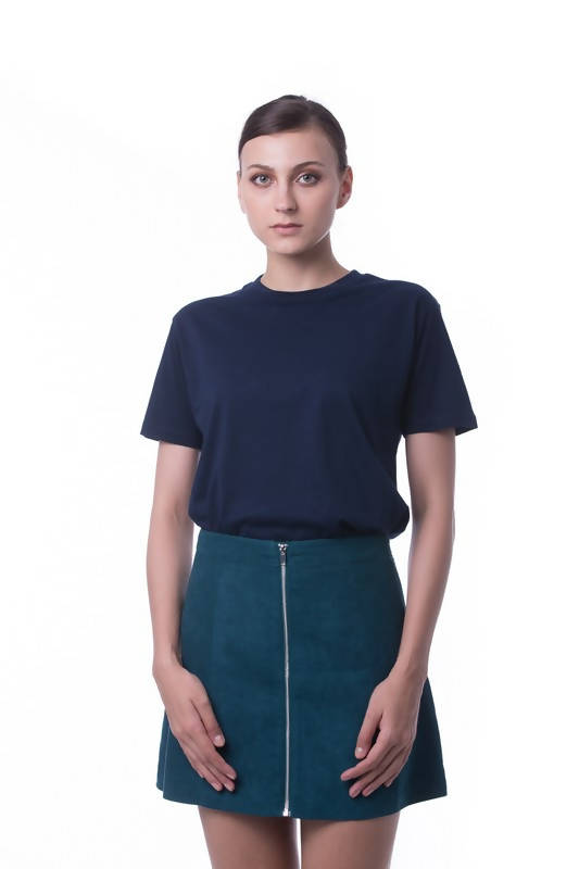 RIGHTWAY - Cotton Round Neck - Navy Blue