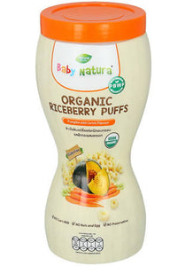 ECOPEAKS - Baby Natura Organic Riceberry puffs - Pumpkin With Carrot (40g)