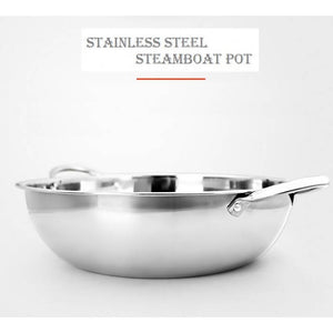 OSUKI - Steamboat Pot 36CM Stainless Steel With Glass Cover (2 IN 1)