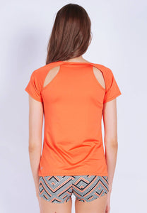 FUNFIT - Power up Tee in Cider Orange