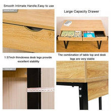 Load image into Gallery viewer, OSUKI - Home Office Table 120 X 52CM Double Drawer S858 (BROWN)