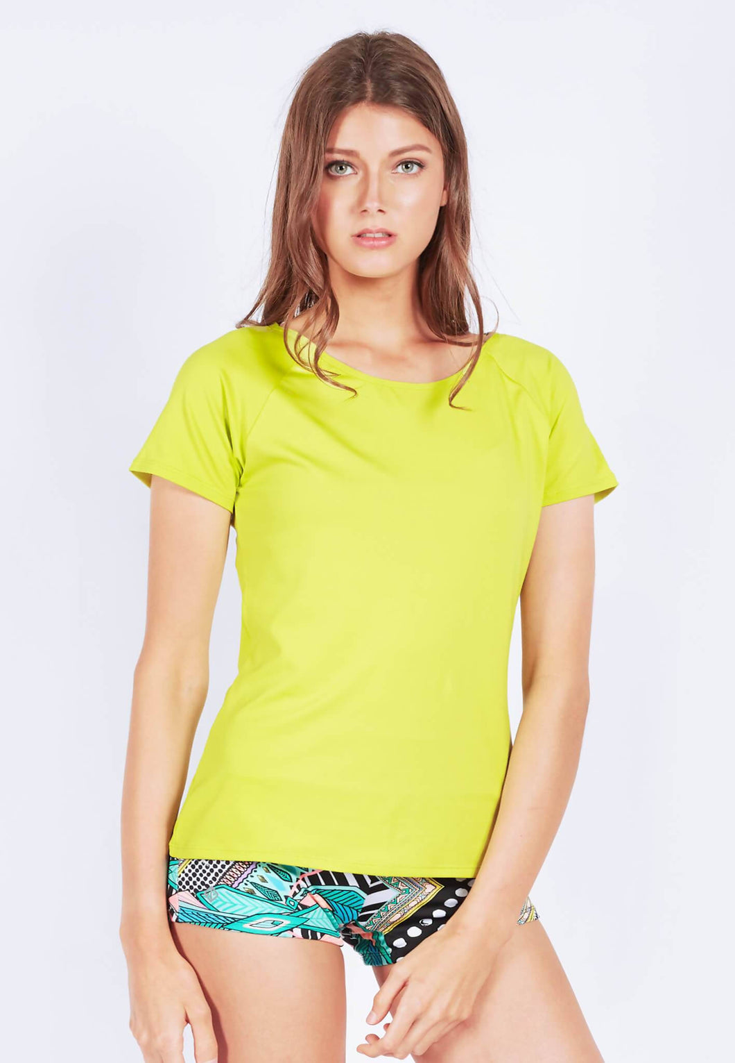 FUNFIT - Power up Tee in Lime Yellow