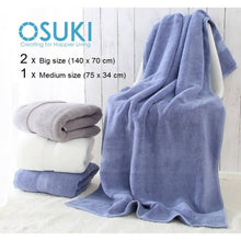 Load image into Gallery viewer, OSUKI - Big Bath Towel 100% Cotton (3 IN 1)