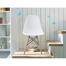 Load image into Gallery viewer, OSUKI - Japan Quality Eames Chair White Seat Natural Wood Legs Chair