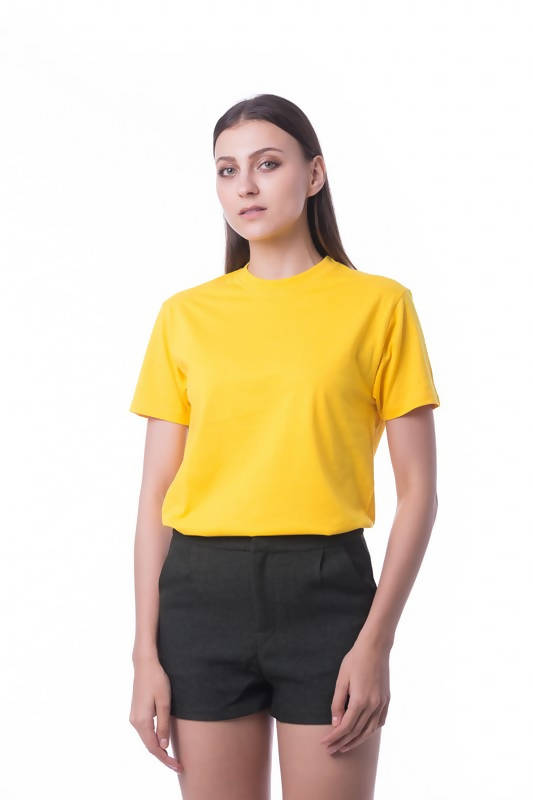 RIGHTWAY - Cotton Round Neck - Sun Yellow