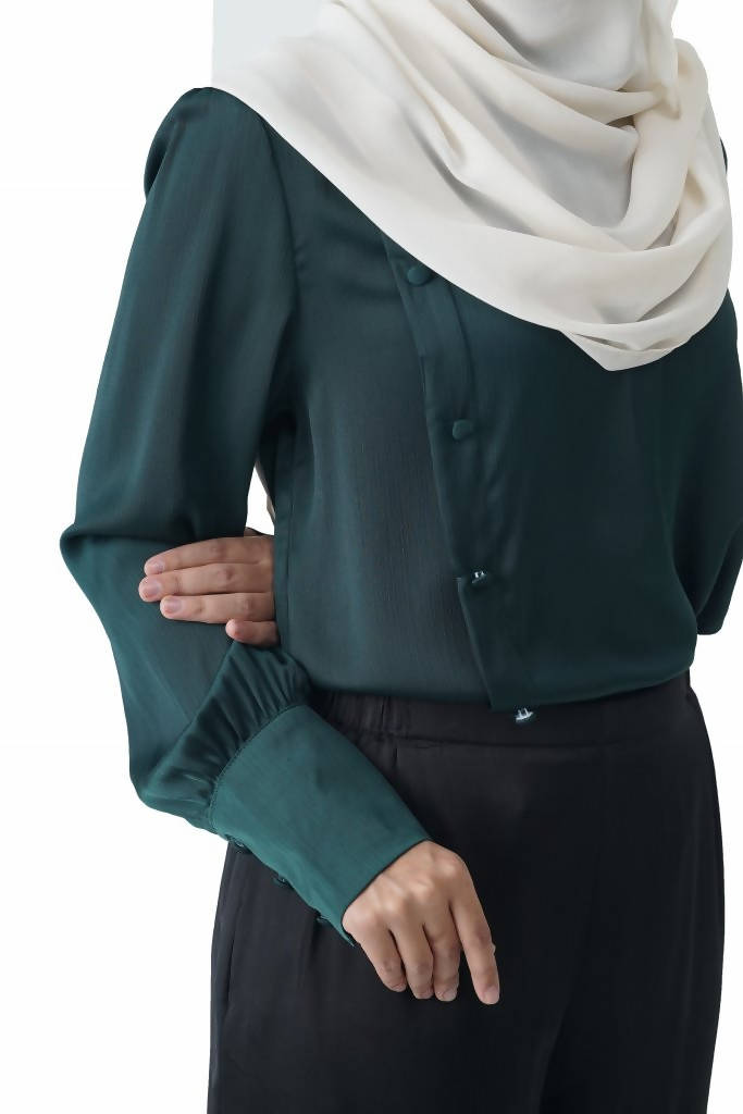 RASA SAYANG - Christa Blouse - Emerald Green