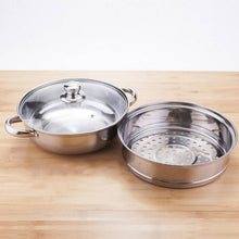 Load image into Gallery viewer, OSUKI - Japan High Quality Double Layer Stainless Steel Cooking Pot With Steamer
