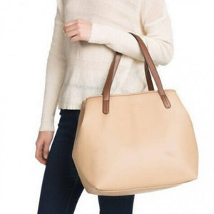 OSUKI - Elegant 12210 Leather Tote Shoulder Handbag (LIGHT BROWN)