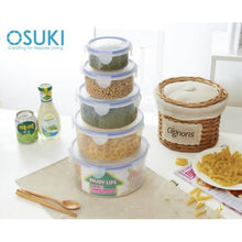 Load image into Gallery viewer, OSUKI - Transparent Food Container Set (5 UNIT / DIFFERENT SIZES)