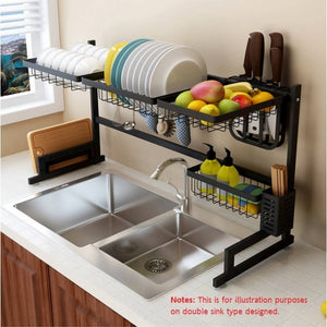 OSUKI - Stainless Steel Kitchen Dish Rack Sink Top Set (7 IN 1)