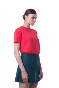 RIGHTWAY - Cotton Round Neck - Classic Red
