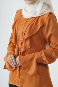 RASA SAYANG - Elmina Blouse - Pumpkin Orange