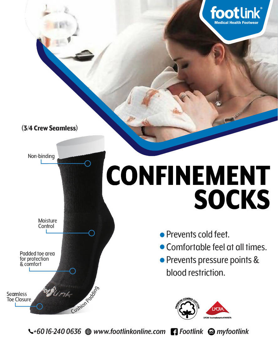 Seamless Cotton Sock for Confinement
